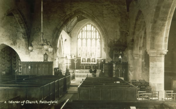 Interior of St Denys Church - c 1920