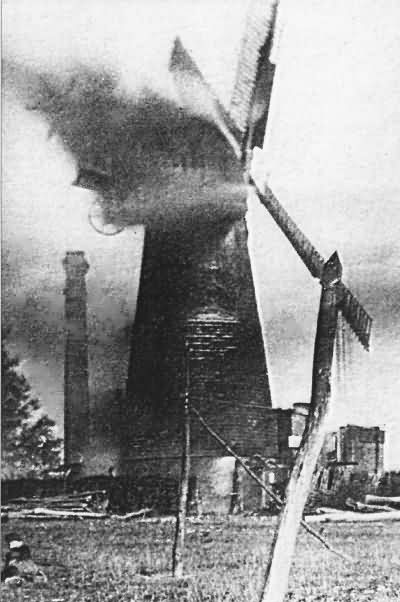 Windmill on fire - 1910