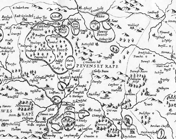 [North] Sussex by John Norden and augmented by John Speed - 1610