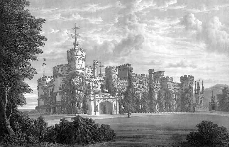 Eridge Castle, Eridge by T. Henwood and engraved by W. Westall - c 1830