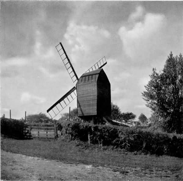 Nutley Windmill in Summer - 1936